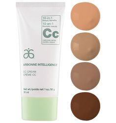 Arbonne Intelligence ®  CC Cream  10-in-1 Complexion Control Cream that is Vegan, Cruelty Free. Suitable for all ages and skin types