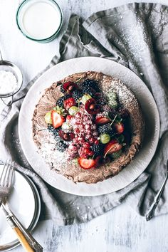 Chocolate Meringue Cake with Fresh Berries via Artful Desperado  meia.dúzia ® - Portuguese Flavours Experiences | http://www.meiaduzia.pt/eng/