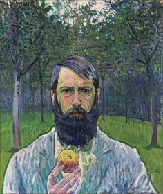 Cuno Amiet · Autoritratto con mela · 1903 · Ubicazione ignota