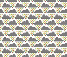 Lovely childrrns fabric cloud design. Rrainpastels_shop_preview