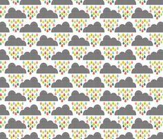 Lovely childrrns fabric cloud design. Rrainpastels_shop_preview