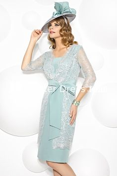 $122.79-Vintage Style Appliqued Square Neck Chiffon Short Mother Of The Bride Dress with 3/4 Sleeves. http://www.ucenterdress.com/mini-appliqued-3-4-sleeve-square-neck-chiffon-mother-of-the-bride-dress-pMK_302203.html.  Tailor Made mother of the groom dress/ mother of the brides dress at #UcenterDress. We offer a amazing collection of 800+ Mother of the Groom dresses so you can look your best on your daughter's or son's special day. Low Prices, Free Shipping. #motherdress
