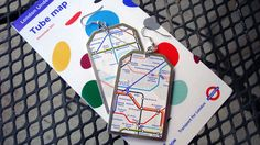 Public Transit Tag Earrings  London Underground by MissPodolsky, $12.00