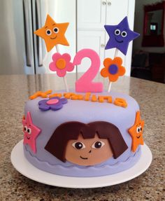 Dora Birthday Cake!                                                                                                                                                     More