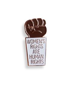 Women's rights are human rights pin from @edgeofprint✊ ♀ Period.  Buy it through their link in bio! Proceeds to Planned Parenthood.