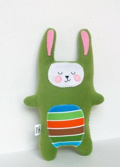 Kids Baby Plush Bunny Rabbit Doll Softie Stuffed by FriendsOfSocktopus