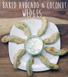 Baked Avocado And Coconut Wedges