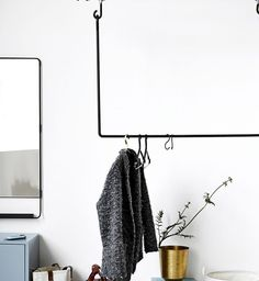 Inspired by old industrial storage racks, this metal wardrobe by House Doctor adds a strong industrial vibe to a room. Buy online from concept store BODIE and FOU now! House Doctor, Nordic Home, Scandinavian Home, Hall Mirrors, Do It Yourself Inspiration, Sweet Home, Home Office Storage, Entry Hallway, Entryway