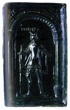 Jupiter v přilbici, brnění a plášti s mečem. Nahoře nápis identifikující postavu. Z cyklu personifikací planet.