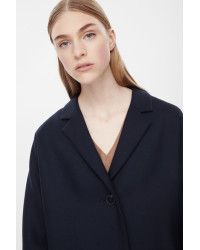 Cos Single-breasted Wool Coat in Blue (Navy) | Lyst