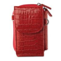 Stow cash, cards and a smartphone in the Accordion Phone Wallet. Petite leather purse holds all sizes of smartphones, and features 10 inside card slots that fan out and a secure zippered closure. Wear over the shoulder or cross-body, or use the wrist leash to carry like a clutch.