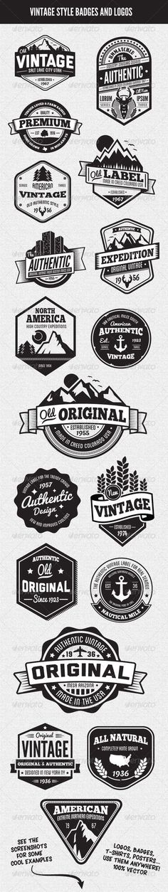 """Although the whole """"vintage logo/badge"""" fad is getting a little old, I do like some of them."""