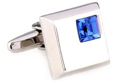 Blue Square Crystals Cufflinks http://astore.amazon.com/ahoy-20/detail/B00O70XCPE