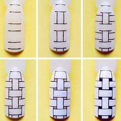 DIY Black & white nail art design Tutorial | Step-by-step nail art tutorial |