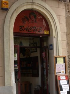 Bar BACUS, calle Sicilia, Barcelona.