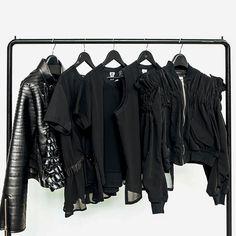 As always, the heart of Noir Kei Ninomiya's collection features all-black pieces, drawing focus on the shapes and textures Ninomiya creates. Browse the Noir Kei Ninomiya selection, only in UNIVERS. The Noir, Wardrobe Rack, Uni, All Black, The Selection, Social Media, Shapes, Drawing, Heart