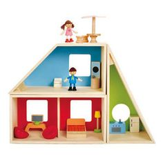 Kids Wooden Dollhouse Furniture Dolls Pretend Play Wood Doll House Children Toy for sale online Wooden Dollhouse, Wooden Dolls, Kids Wooden House, Hape Toys, Toy House, Wood Toys, Play Houses, Educational Toys, Wood Crafts