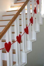 London Reid Blog: what i made monday: valentine's heart garland