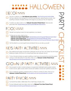 If you are planning a Halloween party, take a look at our printable Halloween party checklist so you don't forget anything. See more Halloween party ideas at CatchMyParty.com.