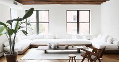 Stumbling across this unique apartment today, I was drawn to the white bright space, natural materials and minimalist style. Located in New ...