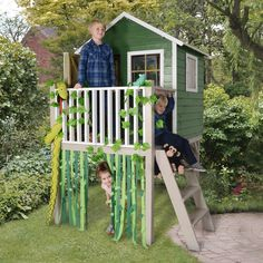Tower Playhouse for your little adventurers. The Forest Sage Tower Playhouse comes pressure treated and with a 15 year anti-rot guarantee. Childrens Playhouse, Playhouse Outdoor, Wooden Playhouse, Playhouses For Sale, Sheds Direct, Buy Shed, Fencing Supplies, Wendy House, Garden Buildings