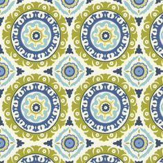 Fabric | Lime Solar Flair Fabric by the Yard | Carousel Designs