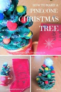 how to make a pinecone christmas tree gift for grandparents and family