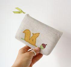 unique linen pouch  forest party by pillipilli on Etsy