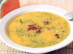 Receita de Sopa de Abóbora com Couve - sopa mais rala coloque água a gosto) e corrija o sal. Cozinhe por uns 15 minutos e junte as folhas de couve cortadas em tiras. Ferva por mais 10...