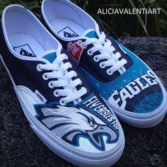 61c68753f9c1 Custom Painted Philidelphia Eagles Vans
