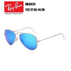 01a028b43a New Ray-Ban Unisex Aviator Black Green Lens Sunglasses