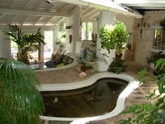 other design ideas, Small Indoor Fish Pond In Natural Home: fish pond makes the house fresh