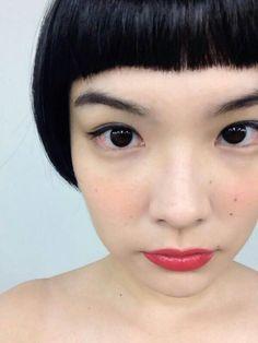 Kozue Akimoto 秋元梢 Face Hair, Bangs, Hair Makeup, Hair Beauty, Hair Styles, Model, Nail, Inspiration, Dyes