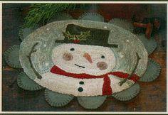 snowman punchneedle