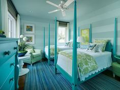 Tiffany & Co Bedroom Decor | Twin Suite Bedroom of HGTV Dream Home 2013