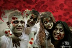 Zombify your family with PicMonkey. Fun Halloween photo effects, wounds, fake blood and scary textures galore. http://picmonkey.com/#go/themes/zombies