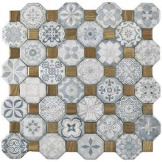 SomerTile 12.25x12.25-inch Tesseract Blue Ceramic Floor and Wall Tile (Case of 13)