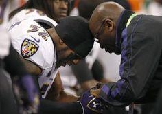 Praying before the game