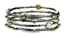 StackableTwig Bangles - Earth Essences Blackened Silver. $780.00, via Etsy.