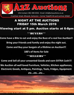 Come and buy a Bargain and enjoy the evening with family and Friends!