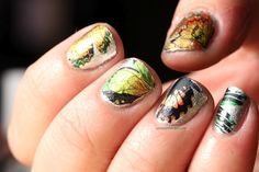 Abstract butterfly nails