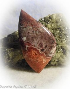 Mexican Crazy Lace Agate Hand Cut Stone Rock Cab by superioragates, $15.00