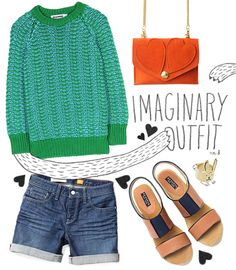 Love the design of this styleboard! What would you include in your imaginary outfit? (Monster hands optional.) #style #fashion