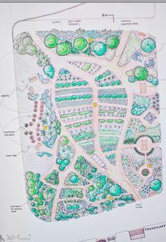 """Franklin Permaculture Gardens """"Leaf Shaped"""" design plan."""