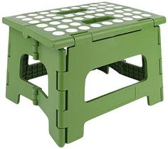 Kikkerland Rhino II Step Stool Green PackageQuantity 1 Color Green Model ZZ12G -- Continue to the product at the image link.