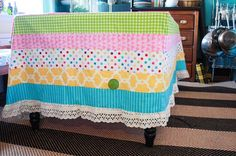 One Little Minute - http://www.onelittleminuteblog.com/2012/05/princess-and-the-pea-party-tablecloth/