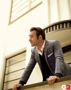Love, love the jacket. Jean Dujardin (GQ)