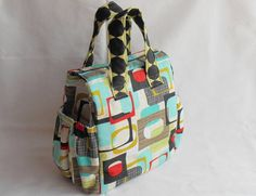 Insulated Lunch Bag PDF Pattern Tote Bag Sewing by DesignBlanche