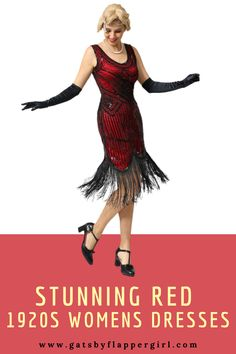 Check out all our stunning 1920 dress styles in Red! Turns heads at your next event by dressing classic Great Gatsby Style! Great Gatsby Outfits, Great Gatsby Fashion, 1920 Style Dresses, Dress Styles, Gatsby Dress Plus Size, Plus Size Dresses, Red Flapper Dress, Gatsby Style, Costume Dress