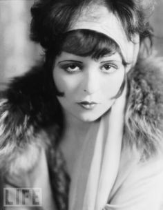 Clara Bow overcame what was by all accounts a poverty-stricken, miserable childhood to personify the emancipated flapper of the 1920s. Her films include Mantrap (1926), Wings1927